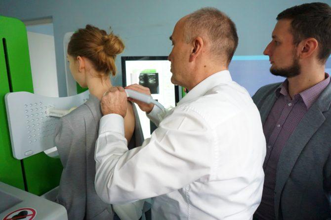 Szkolenie i pierwsze testy Scolioscanu w Szpitalu