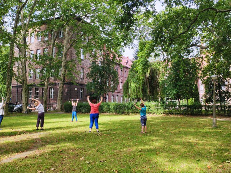 ćwiczenia w parku