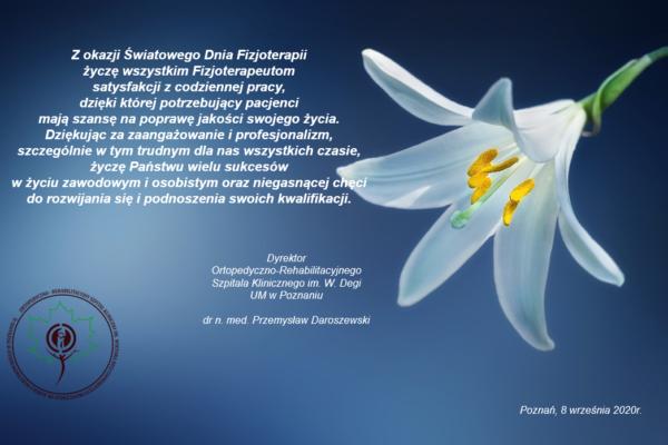 08.09.2020 – Światowy Dzień Fizjoterapii