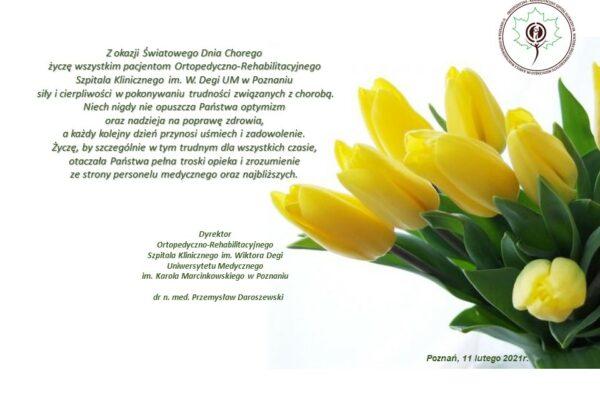 11 lutego 2021 – Światowy Dzień Chorego
