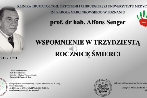 Wspomnienie prof. Alfonsa Sengera